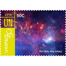 2018 UNITED NATIONS-UNISPACE+50 NEW YORK-GENEVA-VIENNA STAMPS & SOUV.SHEETS MNH
