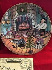 """Anna Perenna Christmas Warmth plate , P. Buckley Moss Nib Amish 8"""""""