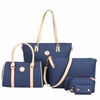 Women's Big Bag Sets Handbag Cute Crossbody Messenger Wallets Key Case 6Pcs Gift