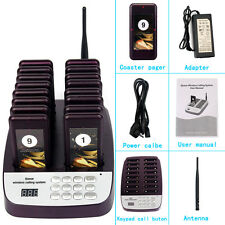 T113 Wireless Restaurant Cafe WaiterService Calling Paging System 16Pagers 999Ch