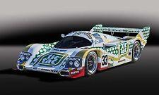 1988 Porsche 962C Tic Tac GTP Can-Am IMSA Vintage Classic Race Car Photo CA-0989