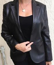 The Limited genuine leather very dark brown women jacket size 8 new