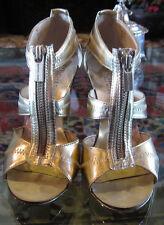 Michael Kors Gold Berkley Heels Pre-Owned Size 6 Shoes