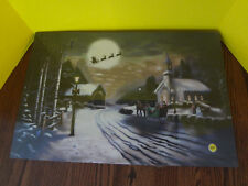 Led Christmas Canvas #97031 not functioning but picture is perfect ~Fast S/H~