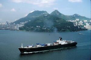 Osaka Bay yr 1986 Hong Kong V8 35mm Ship Slide