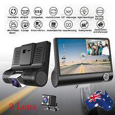 "4"" LCD 1080P Car DVR 3 Lens Camera Recorder Dash Cams DVRS Carcorder"