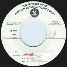 LOBO Fight Fire With Fire ((**NEAR MINT 45 TEST PRESSING**)) from 1980