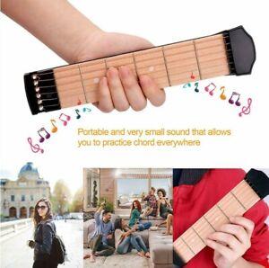 6 Fret Portable Pocket Guitar Mini Acoustic Trainer Chord Practice Tool Black