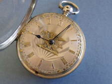 "Superbe RARE ""Liver Bird"" DIAL FUSEE Pocket Watch ""Thos Alker, Wigan' 1845"