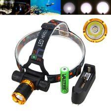 Waterproof 5000Lm XM-L2 LED Diving SCUBA Headlight Light Head Torch 18650 Lamp