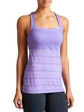 Athleta Crunch and Punch Purple Criss Cross Yoga Tank Top Built in Bra S Small*