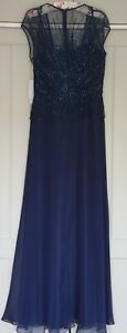 Occasion mother of the bride size 12 long gown Navy