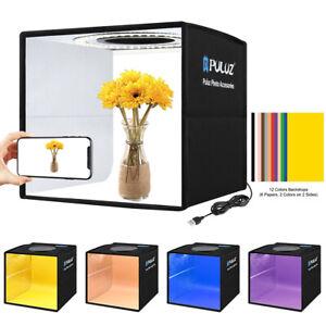 Portable Photography Photo Studio Tent Backgrounds Kit Cube LED Ring Light Box