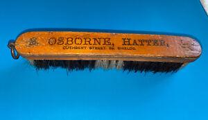 VINTAGE Edwardian Hat Badger Brush 'S Osborne' Hatter Cuthbert St, So Shields