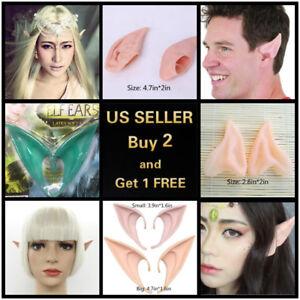 6 Styles 2Pcs Elf Ears Halloween Cosplay Latex Prosthetic Hobbit Vulcan Alian