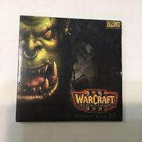 RARE HARD TO FIND Warcraft 3 Reign of Chaos Soundtrack EP Vintage Pc Game Promo