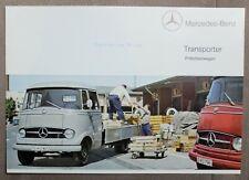 MERCEDES BENZ L 319 TRANSPORTER Pritschenwagen 1965 Original PROSPEKT BROCHURE