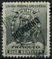 Peru 1896-1900 SG#O350, 10c Black, Official Used #E1290