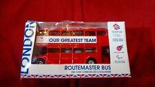 Routemaster London Double Decker red Bus olympics -Corgi Mattel 2012 union jack