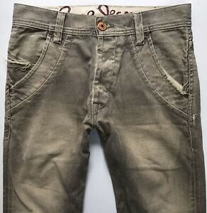 Mens PEPE SLOUCH TAPERED GREY TORCHED JEANS W31 L29 31 S (834j)