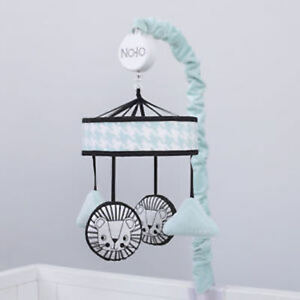 Roar Lions Aqua, Black and White Musical Mobile by NoJo