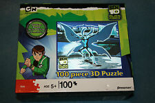 NEW & SEALED - 3D - BEN 10 ALIEN FORCE - PRESSMAN 100 PIECE 3D PUZZLE - AGE 5-8