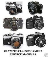 OLYMPUS CLASSIC CAMERA SERVICE MANUALS 35MM OM1 OM2 OM2n OM4 OM4Ti OM10 OM2000 +