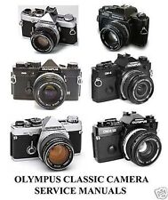 Olympus OM-1 OM1 OM2 om 2 Cameras Service Repair Manuals Parts Lenses 35MM Lot