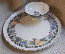 Mikasa Intaglio Garden Harvest Vegetable Chip & Dip Crudite Plate Bowl Set NIB