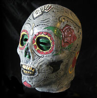 Day of the Dead Undead Mexican Death Skull Halloween Latex Adult Mask