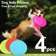 4 pcs Dog Frisbee Toy Exercise Pet Training Tool Puppy Saucer Flying Disc New