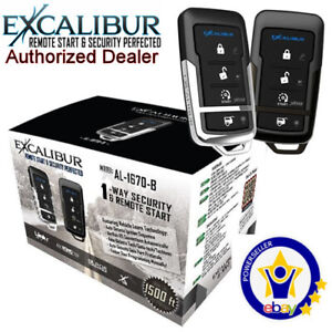 EXCALIBUR AL-1670-B- Deluxe 1-Way Vehicle Security & Remote Start system