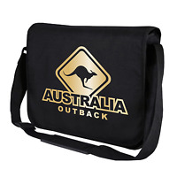 Australia Outback Känguru Kangaroo Schwarz Motiv Fun Umhängetasche Messenger Bag