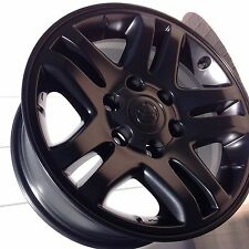 "69440 TOYOTA TUNDRA 17"" OEM FACTORY WHEELS RIMS SET OF 4 Black Semi Flat"