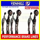 HONDA CBR400RR NC29 1989-96 VENHILL F&R s/steel braided brake hose set BK
