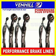 YAMAHA YZF R6 2006-14 VENHILL F&R s/steel braided brake line set BK