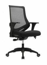Eurotech Astra MF2000 Mesh-Back Fabric Mid-Back Task  - Black