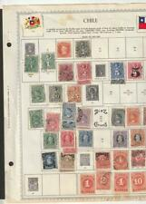 Chile Collection 1867 -1960's, 350+ on 20 old Minkus Album pages mostly used