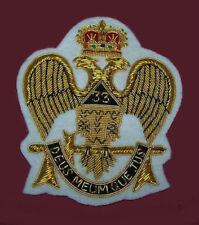 Masonic Masonry Scottish Rite Ceremony Uniform Bullion Badge Patch Master Lodge