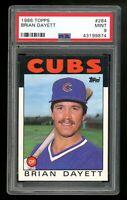 1986 Topps #284 Brian Dayett Chicago Cubs PSA 9 MINT SET BREAK! QTY Available