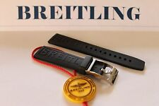 100% Genuine New Breitling Black Rubber Diver Pro 3 Tang Buckle Strap 20-18mm