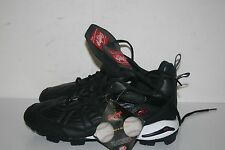 Boy's Low Clubhouse Cleat Shoes from Rawlings (Black0 Size 8US STK#B3