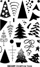 Stampendous Perfectly Clear Stamps - Christmas Trees - SSC029 - Festive - NEW
