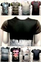 Adult New Ex Industrialize Multi Colour Short Sleeve Print T Shirt ~ XS -XXL