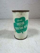 Vintage Schaefer Irish Brand Cream Ale Beer Can Albany NY Empty Tin Flat Top