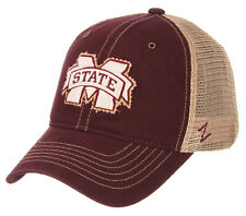 2b5d352d373 MISSISSIPPI ST. BULLDOGS NCAA SLOUCH TRUCKER UNSTRUCTURED SNAPBACK Z CAP HAT  NWT