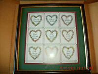 NEW Home Interiors framed print Love by Charles Humphrey 17.75 in floral hearts