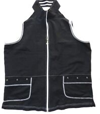 WOMENS black & white VEST sleeveless JACKET = ALLISON DALEY = 14 = WH85