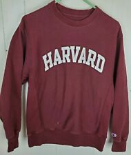 Champion Reverse Weave Sweatshirt Harvard Men's Size S Burgundy Long Sleeve
