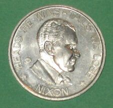 Richard M. Nixon & George Wallace US Political Two Side Silver Color Metal Coin